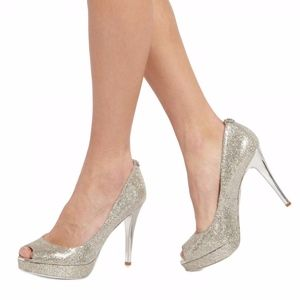 Michael Kors York Metallic Silver Pump Heels 6